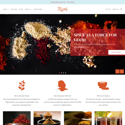 Rumi Spice: Buy Afghan Saffron Online | World-Class Chef Quality
