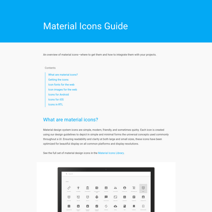 Material Icons Guide - Google Design