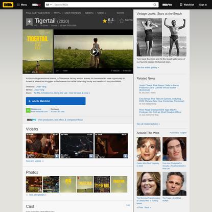 Tigertail (2020) - IMDb