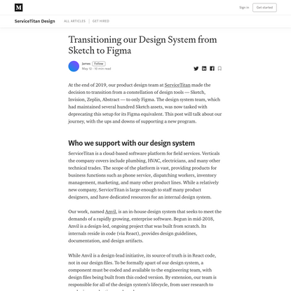 Transitioning our Design System from Sketch to Figma