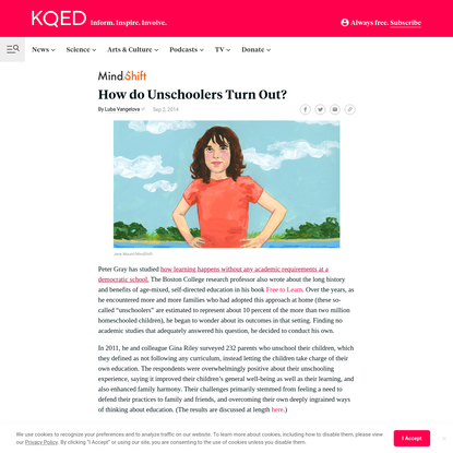 How do Unschoolers Turn Out?   KQED