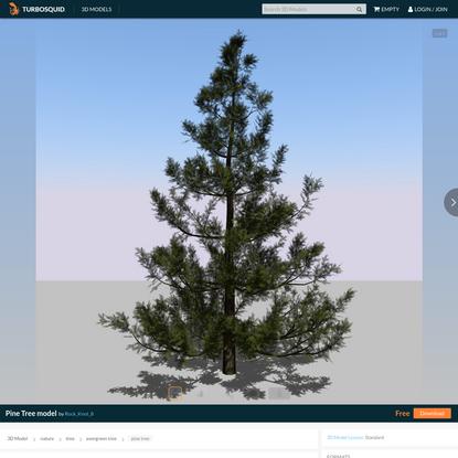 Pine tree model - TurboSquid 1508559
