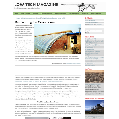 Reinventing the Greenhouse