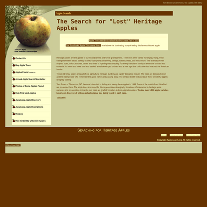 """Apple Search - The Search for """"Lost"""" Heritage Apples"""