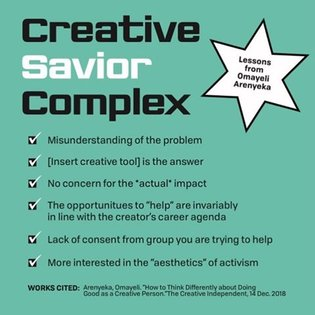 """A big thank you to Omayeli for creating the guide """"How to think differently about doing good as a creative person"""" and givin..."""