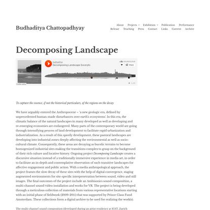 Decomposing Landscape