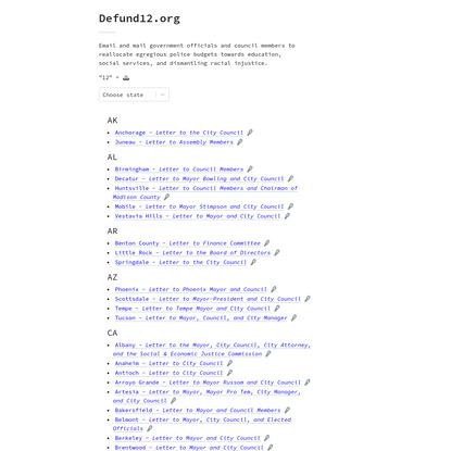 Defund12.org