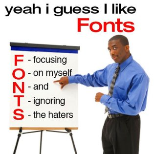 When designing, always use FONTS💫🌈