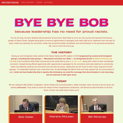 BYE BYE BOB