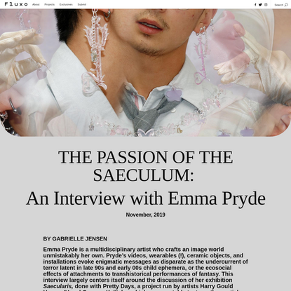 The Passion of the Saeculum: An Interview with Emma Pryde by Gabrielle Jensen