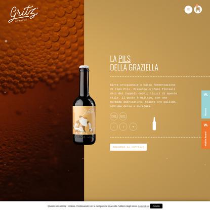 La pils della Graziella - Gritz Brewing
