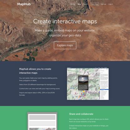 MapHub · Create interactive maps