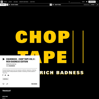 Equiknoxx - Chop Tape Vol II : Rich Badness Edition 9th July 2020