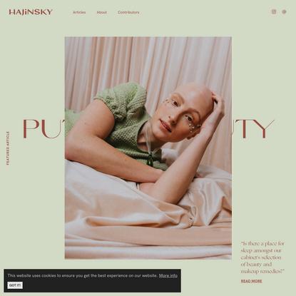 Home — HAJINSKY Magazine