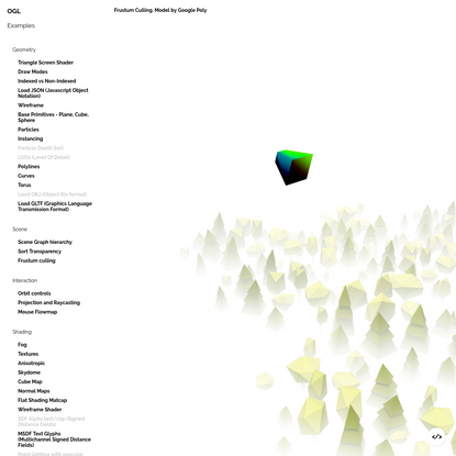 OGL WebGL Library