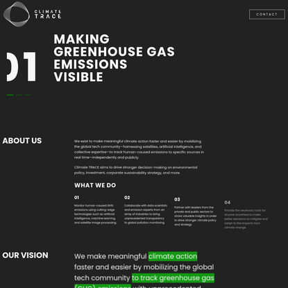 Climate Trace - Accelerating climate action by making global greenhouse gas emissions visible