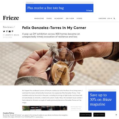 Felix Gonzalez-Torres In My Corner