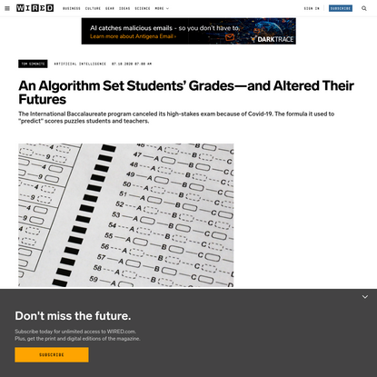 Meet the Secret Algorithm That's Keeping Students Out of College