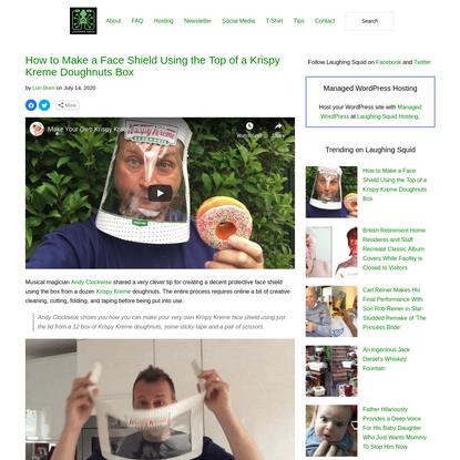 How to Make a Face Shield Using the Top of a Krispy Kreme Doughnuts Box