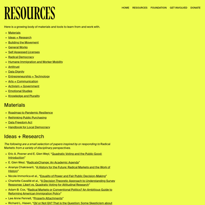 Resources - RadicalxChange