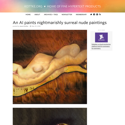 An AI paints nightmarishly surreal nude paintings