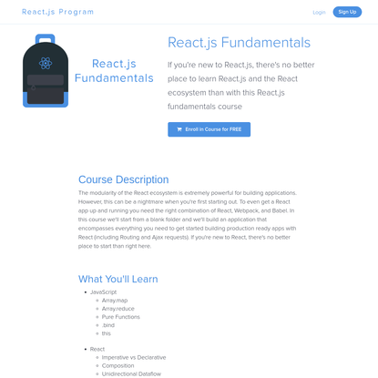 React.js Fundamentals: The best place to learn React.js and the React.js Ecosystem