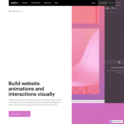 Website interactions and animations   Webflow