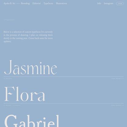 Typefaces - Ayaka B. Ito