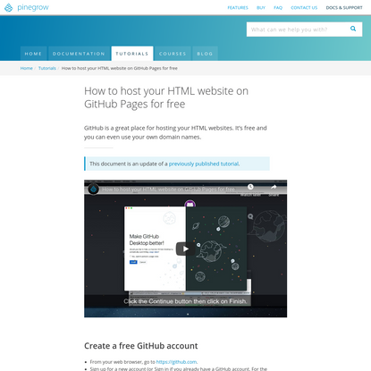 How to host your HTML website on GitHub Pages for free | Pinegrow Web Editor
