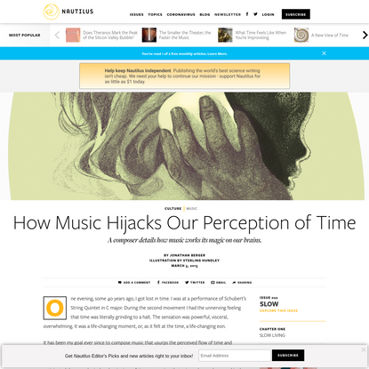 How Music Hijacks Our Perception of Time - Issue 22: Slow - Nautilus