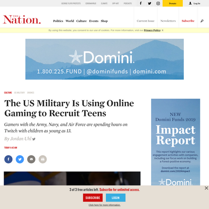The US Military Is Using Online Gaming to Recruit Teens | The Nation