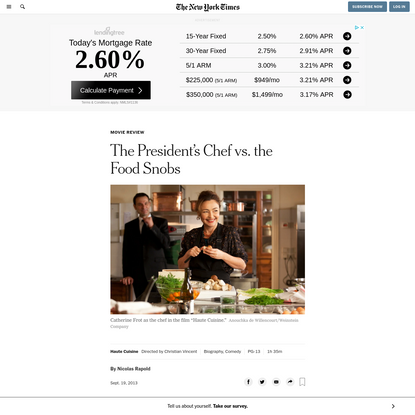 The President's Chef vs. the Food Snobs
