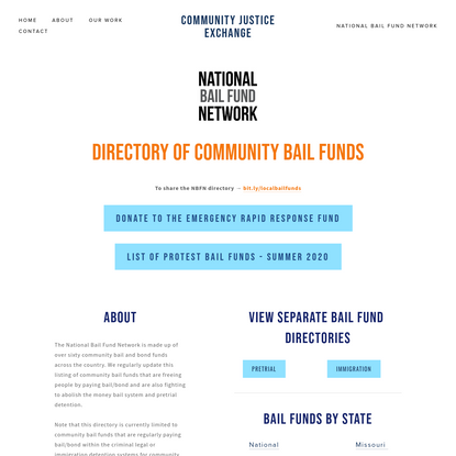 National Bail Fund Network - Community Justice Exchange