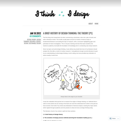 A Brief History of Design Thinking: The theory [P1]