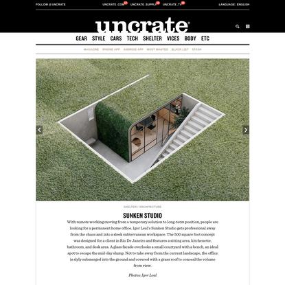 Sunken Studio   Uncrate