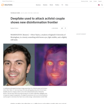 Deepfake used to attack activist couple shows new disinformation frontier