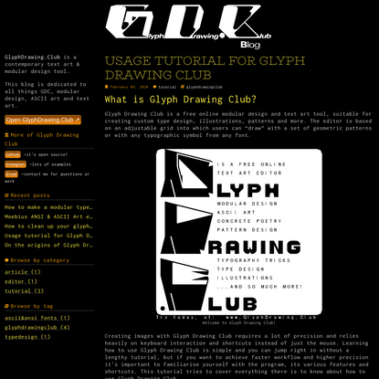 Usage tutorial for Glyph Drawing Club