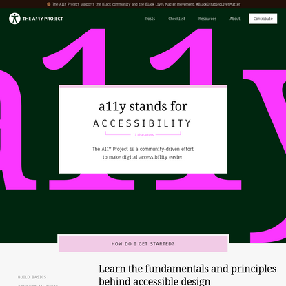 a11y stands for accessibility