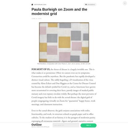 Paula Burleigh on Zoom and the modernist grid
