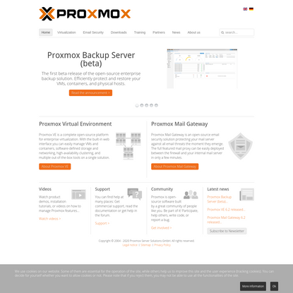 Proxmox - powerful open-source server solutions