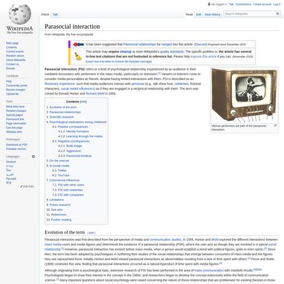 Parasocial interaction - Wikipedia