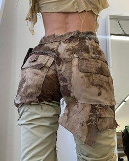 Safari trippy crinkle trousers