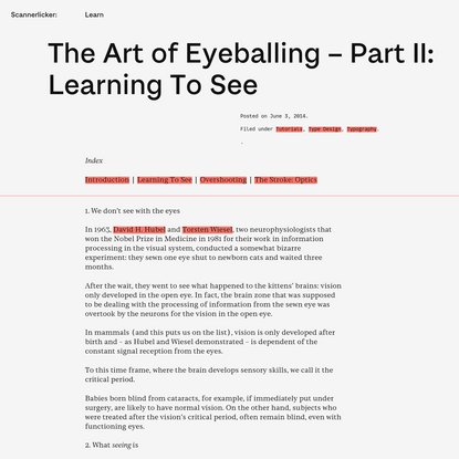 The Art of Eyeballing - Part II: Learning To See | Learn - Scannerlicker!