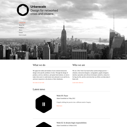 Urbanscale | Design for networked cities and citizens