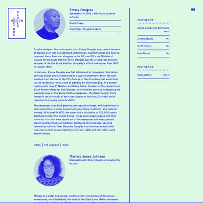 Emory Douglas - Design Lecture Series