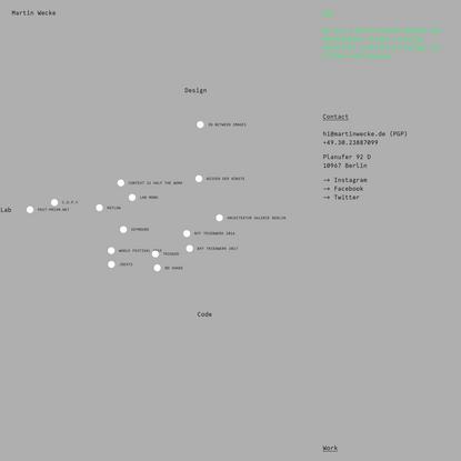 Martin Wecke ● Design Code Lab