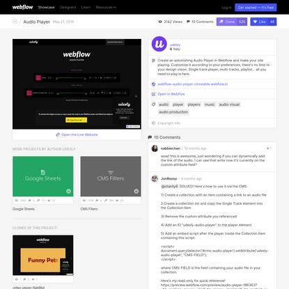 Audio Player - Webflow