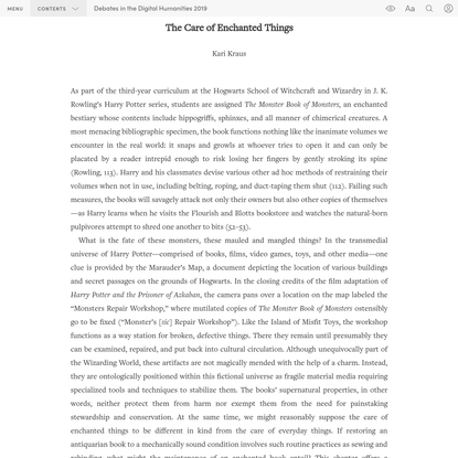 """""""PART II ][ Chapter 14"""" in """"Debates in the Digital Humanities 2019"""" on Manifold"""
