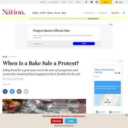 When Is a Bake Sale a Protest?