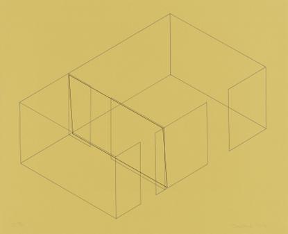Eight Fred Sandback, Variations For The Heiner Freidrich Gallery